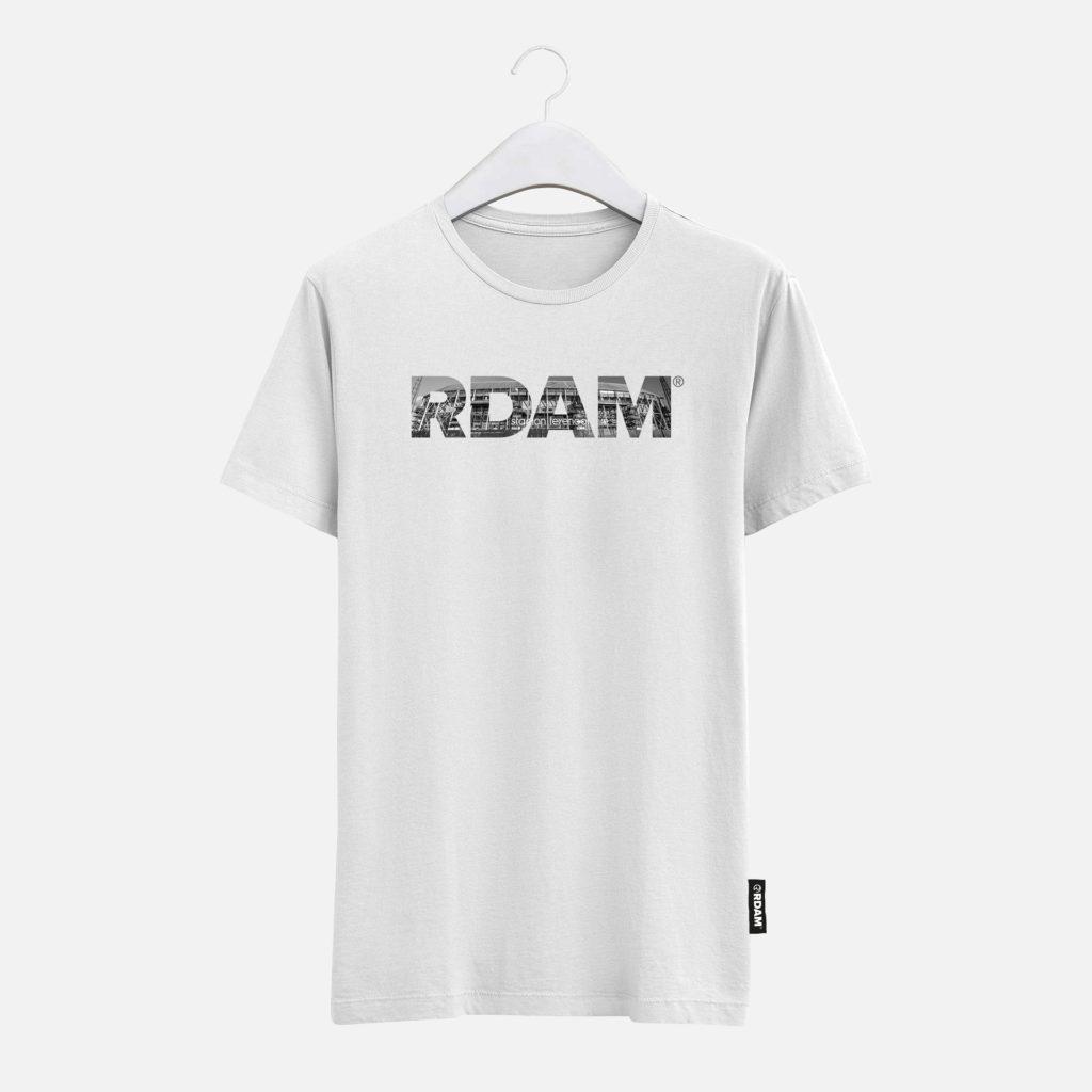 RDAM® T-Shirt Wit met Feyenoord Kuip opdruk | rdam shirt
